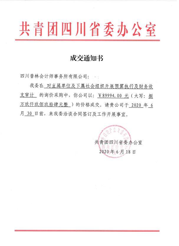 共青团四川省委审计项目